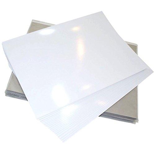 GOLINIT - Etiquetas adhesivas blanco altamente brillante para impresora láser (A4, 50, 100, 250, 500, 1000 unidades) (50)