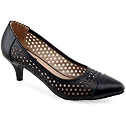 SHUZ TOUCH BLACK PUMPS & PEEPTOES (Size-40)