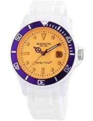 MADISON NEW YORK Unisex-Armbanduhr Candy Time Snow Festival Analog Quarz Silikon U4612-01/1