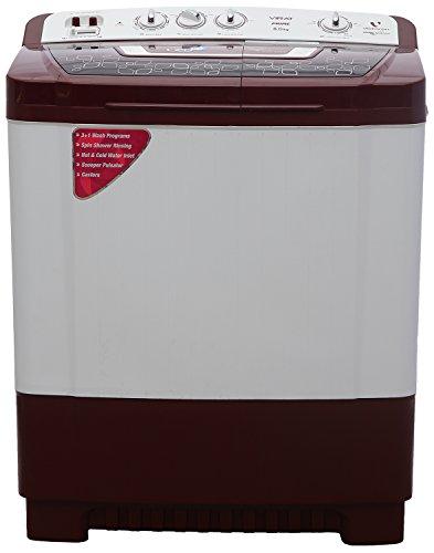Videocon VS80P14-WMK Virat Prime Semi-automatic Top-loading Washing Machine (8 Kg, Dark Maroon)