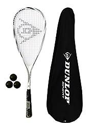 Dunlop Max Lite - Raqueta de squash (titanio, 3 pelotas de squash y funda incluidas)