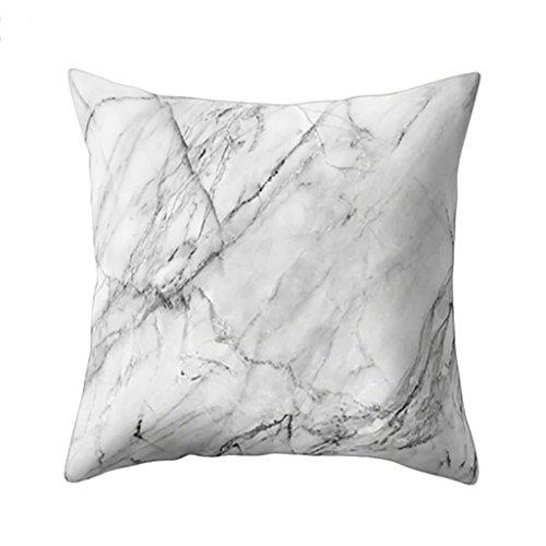 Home Marmor (Kissenbezug Vovotrade Design Kissenbezug Leinenwurf Sofakissen Fall Bett Dekor Dunkelrosa Geometrische Marmor Textur Dekokissen Fall Kissenbezug (H))