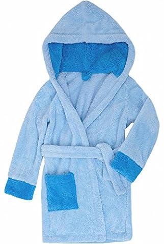 Timone Soft Bathrobe with Hood for Girls and Boys (Light Blue/Blue/Blue (651/652/652), 110-116)