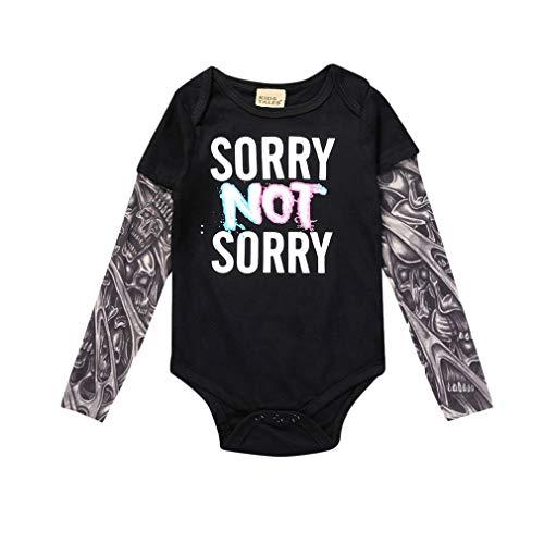 Neue Baby-mädchen-kleidung (Hibote Baby Jungen Mädchen Strampler Neue Unisex Tattoo Sleeve Kleinkind Overalls Für Kinder Baby Mode Einteilige Kleidung)