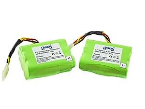 2 batteries avec 3500 mAh pour modèle neato 945-0005 945-0006, xV, signature, signature, XV pro essential XV-11, XV-12, XV XV-15 de Hannets®
