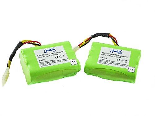 Hannets Kit d'accessoires Premium Neato I 2 Batteries Neato XV Signature Pro, Batterie de Remplacement Neato 3500mAh 7.2V pour Modèle XV-Essential