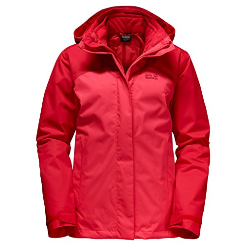 Jack Wolfskin Veste double ECHO BAY 3 in 1 femme Hibiscus Red