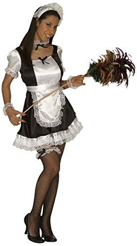 Kostüm kurz mini Kleid M 38 40 Zimmermädchen Kellnerin Schwarz Weiss French (Kostüm Zubehör M&m)