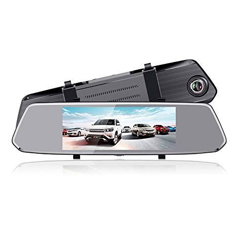 LBB 7-Zoll-High-Definition-1080p-Multifunktionsfahr-Recorder-Rückspiegel vor und nach dem Doppelschuss hinten Bild neu