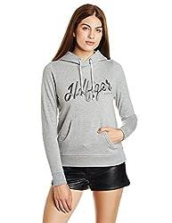 Tommy Hilfiger Womens Sweatshirt (A7AJH114_Mid Grey Heather_M)