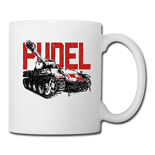 Spreadshirt World Of Tanks Pudel Panzer Tasse, Weiß -