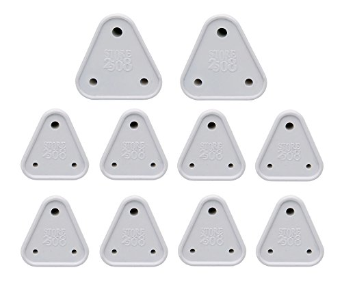 Store2508 Child Proofing Electrical Socket Cover Guards (White) (Pack of 10)