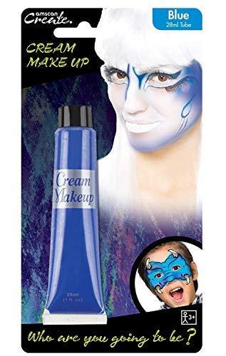Damen Herren Jungen Mädchen Blau Creme Make-Up Gesichtsbemalung Halloween Karneval Fest Kostüm Kleid Outfit Zubehör