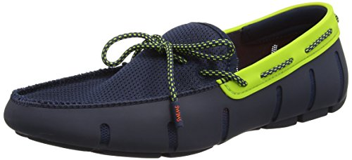 Swims Lace Loafer, Chaussures Bateau Homme Blue (Navy/Green Sparkle)