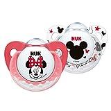 Nuk Mickey - Pack de 2 chupetes fisiológicos de silicona T1