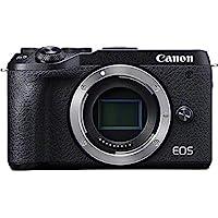 Canon EOS M6 Mark II Systemkamera (32,5 Megapixel, 7,5 cm (3,0 Zoll) Touchscreen LCD, Digic 8, 4K Video, WLAN, Bluetooth) Gehäuse, schwarz