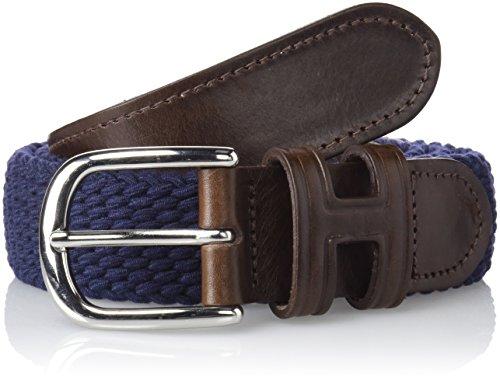 Hackett Parachute Belt, Cinturón para Hombre, Azul (595navy 595), Medium