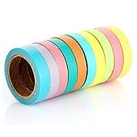10 Rollen Bastelband, 0,75 cm, Candy Color, bunt, für Malen und Basteln