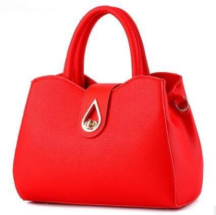 HQYSS Damen-handtaschen Mode Sport Quadrat Querschnitt PU Leder Frauen Multi-Color Schulter Messenger Handtasche big red