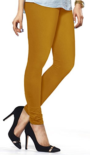f3780d50ea3b0 Buy Lux Lyra Women's Mustard Churidar Leggings on Amazon | PaisaWapas.com