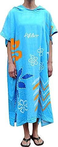 Alder Robe de Plage poncho à capuche pour adultes et