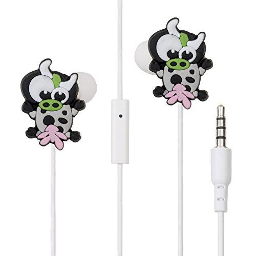 Auricolari colorati mucca LolaChat Milly per iPhone 6, Samsung, tablet, mp3 (ideale per ragazza)