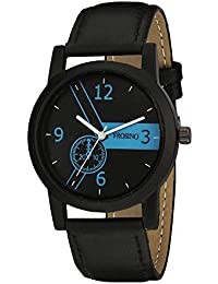 Frosino FRAC101854 Black Strap Black case Analog Watch for Boys and Men (Black)