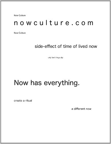 Now Culture lit mag (English Edition)