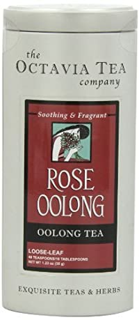 Octavia Tea Rose Oolong (Oolong Tea), 1.23-Ounce Tin