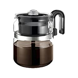 One-All Stovetop Percolator 8 Cup 7 Dia. X 5.6 H Black Handle