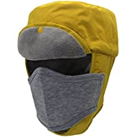 Boyfriend Cardig 1 Unids Unisex Invierno Cálido Faux Fur Chapka Anti-Viento a Prueba de Polvo Sombrero Bonete Ear Flap Bonnet para Esquí Snowboard Ciclismo Adultos y Niños Amarillo L