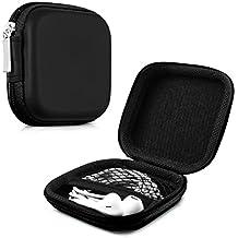 kwmobile Estuche rígido para In-Ear auriculares en negro - Estuche de alta calidad para tus auriculares