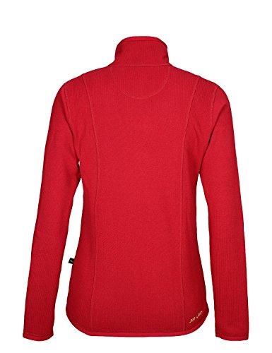 Jeff Green Damen Midlayer Schnelltrocknende Strick Fleece Jacke Inca Red