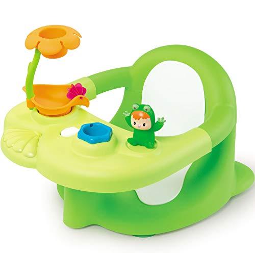 Grüner Badesitz mit Spielelementen ab 6 Monaten Baby Badespaß Badewannensitz Babysitz Badehilfe Bade Spielzeug Viele verschiedene Spielmöglichkeiten Fördert die motorischen Fähigkeiten, Baby Badesitz