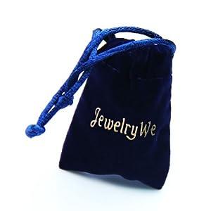 JewelryWe Schmuck Personalisierte Gravur Edelstahl Matching Puzzle Anhänger Paare Freundschaft BFF Familie Halskette Set für 2,3,4, 4 Farben wählbar