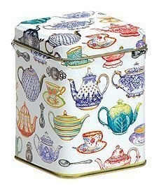 Tea Caddy - Small Square TEAPOTS Design - CHEWY FRUITS Filled