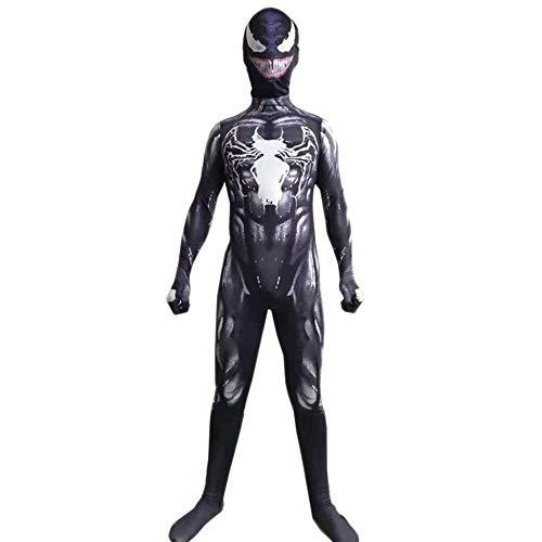 PIAOL Venom Spider-Man Kostüm Cosplay Erwachsene Weihnachten Kind Siamesische Strumpfhose Maskerade Prom,Black-L