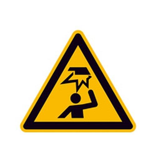 Aufkleber Warnung vor Hindernissen im Kopfbereich Warnzeichen Größe (SL): 10,0cm Folie
