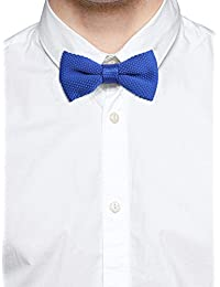 Tossido Knitted Blue Sublte Bow Necktie (TBNK08)