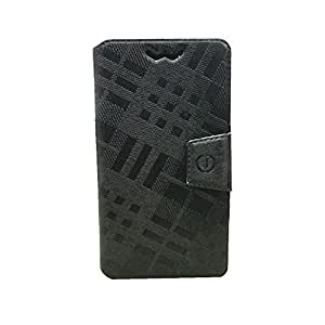 Jo Jo Cover Krish Series Leather Pouch Flip Case With Silicon Holder For Samsung Galaxy Premier I9260 Black