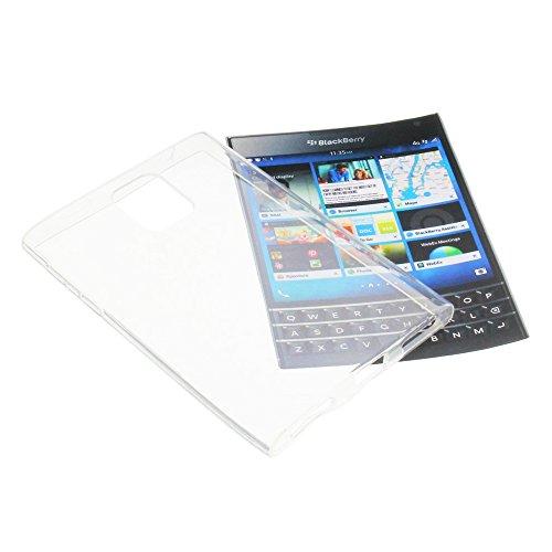 Tasche für Blackberry Passport Gummi TPU Schutz Handytasche transparent klar