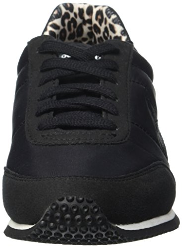 Le Coq Sportif Racerone Animal, Baskets Basses Femme Noir(Black/Grey Morning)