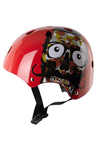 Skullcap® BMX Helm ☢ Skaterhelm ☢ Fahrradhelm ☢, Herren | Damen | Jungs & Kinderhelm, schwarz matt & glänzend (Red Ocean, S (51 – 54 cm)) - 4
