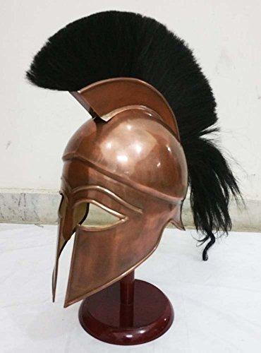 Shiv Shakti empresa Medieval griego espartano Corinthian casco con penacho de color...