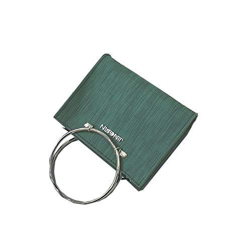 Umhängetasche - Europäische und amerikanische Mode Umhängetasche Round Vintage Tote Bag Green