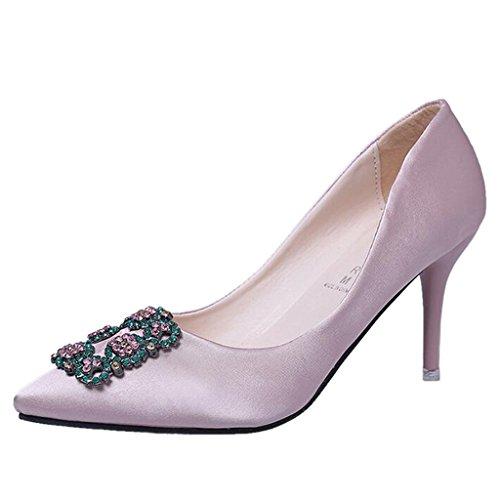 Binying Sandali da Donna Tacco Gattino Rosa