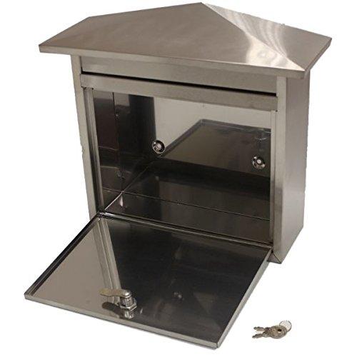 Generic NV _ 1001002861_ YC-UK2largeloc buzón exterior ailbo tbox de acero inoxidable correo casa/Post/carta O Ho con cerradura buzón/Il/Po caja grande stainle