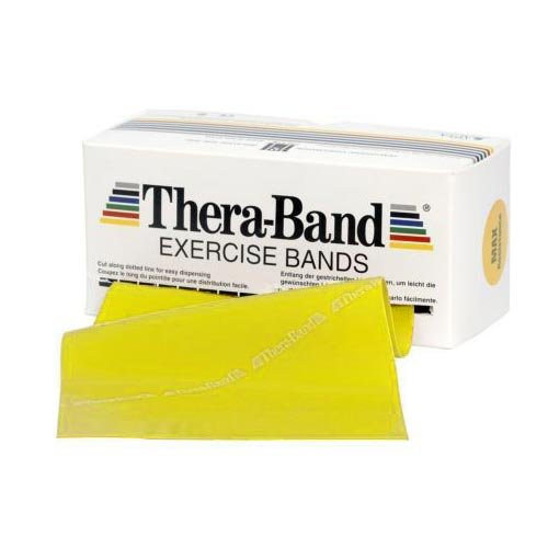 Patterson Medical Thera-Band Gymnastikband, Rolle im Spender, leichter Widerstand, latexfrei, Gelb, 22,85m (Thera-band Pack Dispenser)