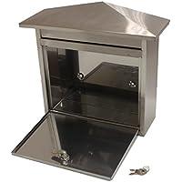 Generic NV _ 1001002861_ yc-uk2largeloc lettere ailbo esterno in acciaio inox tbox casa posta/Post/Lettera O HO serratura Mailbox/Il/po Box Grande