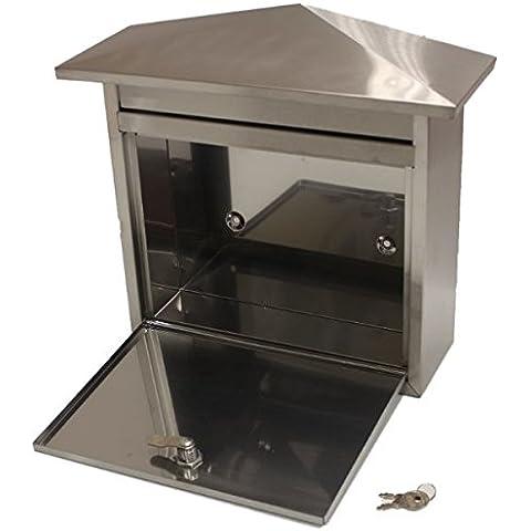 Generic de acero inoxidable con cerradura para buzón/buzón para uso exterior Mail/Post/tamaño grande de